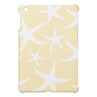 Pern of Starfish in White and Yellow. iPad Mini Cover