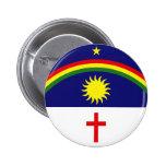 Pernambuco, bandera del Brasil Pin Redondo 5 Cm