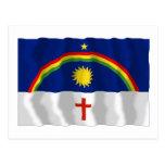 Pernambuco, bandera que agita del Brasil Tarjeta Postal