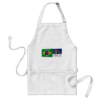 Pernambuco & Brazil Waving Flags Adult Apron