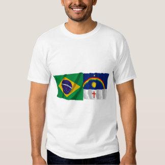 Pernambuco y banderas que agitan del Brasil Polera