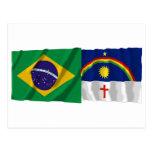 Pernambuco y banderas que agitan del Brasil Postales