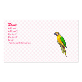 Pernelle Parrot Double-Sided Standard Business Cards (Pack Of 100)