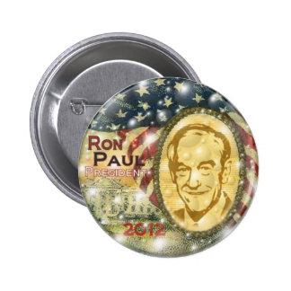 Perno 2012 de Ron Paul Pin Redondo De 2 Pulgadas