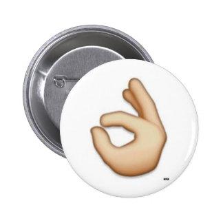 Perno ACEPTABLE del emoji Pin Redondo 5 Cm