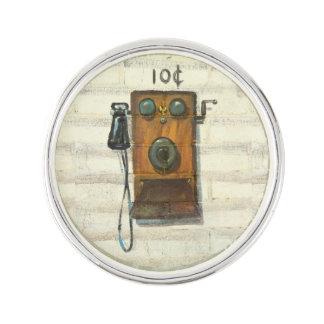 perno antiguo de la solapa del teléfono de pago pin