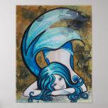Perno azul de la sirena de Dutchess encima del pos