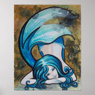 Perno azul de la sirena de Dutchess encima del pos Póster