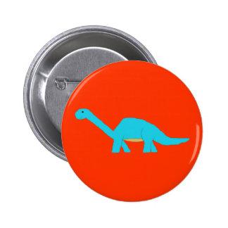 Perno azul del apatosaurus pin redondo de 2 pulgadas