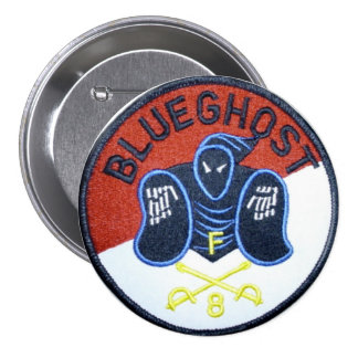 Perno azul del fantasma pin redondo 7 cm