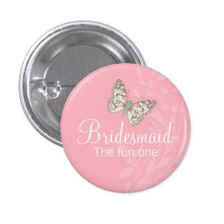 Perno/botón del boda del rosa de la dama de honor  pin