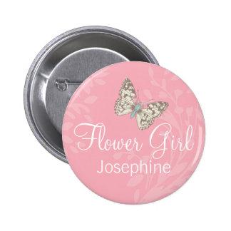 Perno/botón del boda del rosa del florista de las  pin redondo 5 cm
