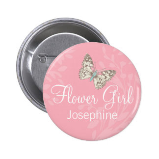 Perno/botón del boda del rosa del florista de las  pin redondo de 2 pulgadas
