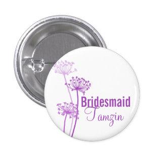 Perno botón púrpuras del boda de la flor moderna d pins