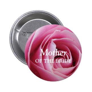 Perno color de rosa de la insignia de la etiqueta  pin redondo de 2 pulgadas
