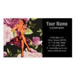 perno color de rosa púrpura lindo encima de la mod plantilla de tarjeta de negocio