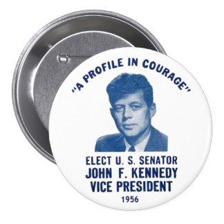 Perno conmemorativo 1956 de JFK Pin Redondo 7 Cm