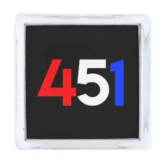Perno cuadrado de la solapa de la operación 451 insignia plateada