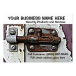 Perno de cerradura oxidado de los servicios de la  tarjeta personal