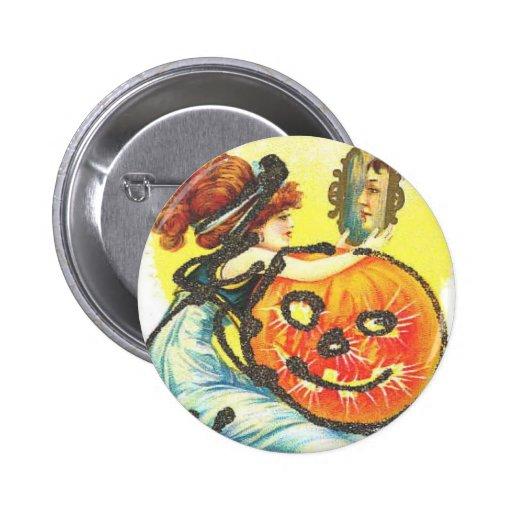 perno de Halloween del vintage Pin Redondo 5 Cm