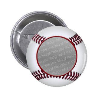 perno de la foto de la bola del béisbol pin redondo de 2 pulgadas