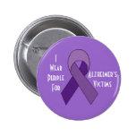 Perno de la púrpura de las víctimas de Alzheimer Pins