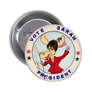 Perno de los alces de Sarah Palin 2012 Pins