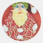 Perno de Papá Noel de Seashells Etiquetas Redondas
