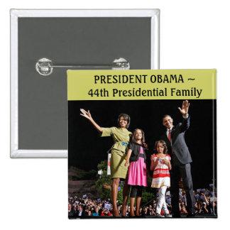 Perno de presidente Obama Pin Cuadrada 5 Cm