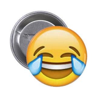 Perno de risa del emoji pin redondo de 2 pulgadas