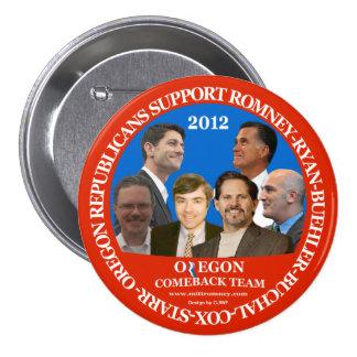 Perno de Romney-Ryan del equipo de la reaparición  Pin Redondo De 3 Pulgadas