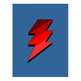Perno de trueno azul del relámpago tarjetas postales