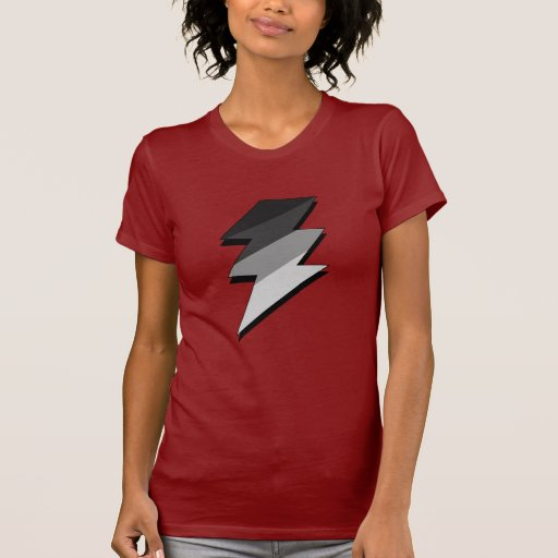 Perno de trueno de plata del relámpago t-shirts