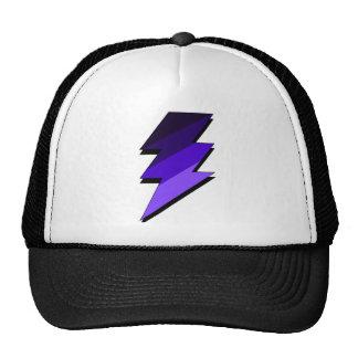 Perno de trueno púrpura del relámpago gorra