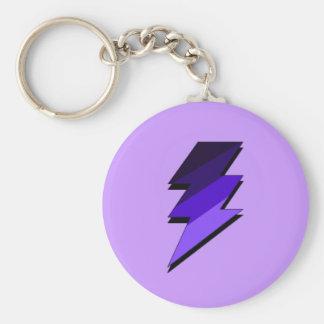 Perno de trueno púrpura del relámpago llaveros personalizados