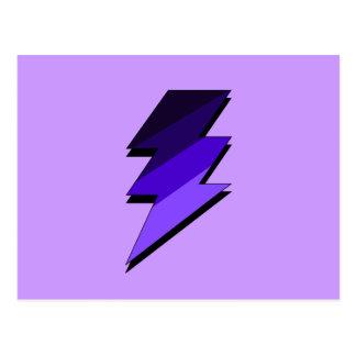 Perno de trueno púrpura del relámpago tarjetas postales