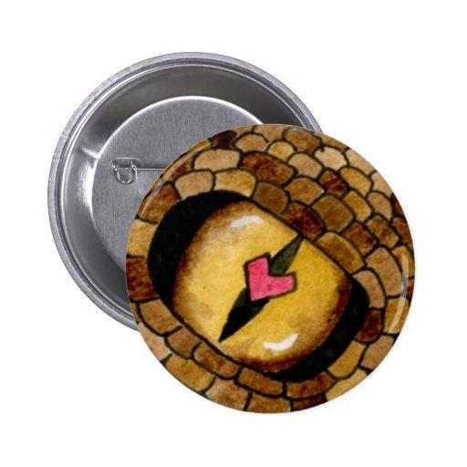 Perno del amor del reptil pin redondo 5 cm