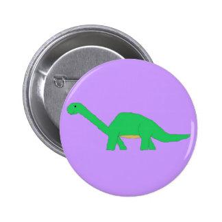 Perno del Apatosaurus Pin Redondo De 2 Pulgadas