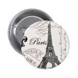 Perno del botón de París del vintage… Pins