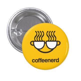 perno del botón del amarillo del empollón del café pin redondo de 1 pulgada