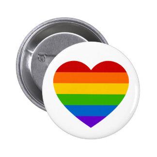 Perno del botón del orgullo del corazón del arco pin redondo de 2 pulgadas