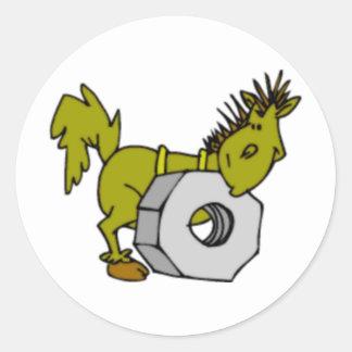 Perno del caballo etiquetas redondas