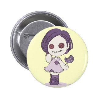 perno del chica del zombi pin redondo de 2 pulgadas