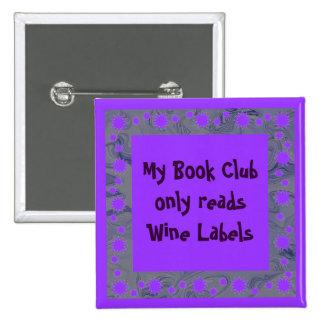 perno del círculo de lectores del vino pin cuadrada 5 cm