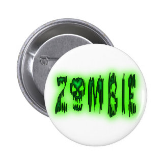 perno del cráneo del zombi pin redondo 5 cm