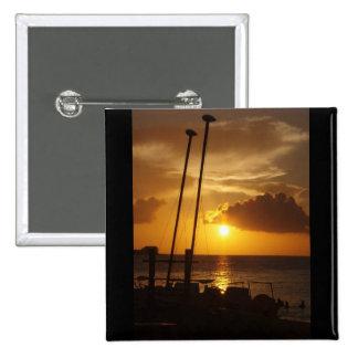 Perno del cuadrado de la puesta del sol de Bahamas Pins