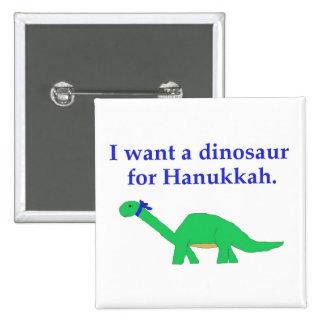 Perno del dinosaurio de Jánuca Pin Cuadrado