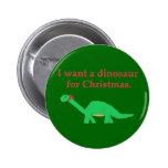 Perno del dinosaurio del navidad pin