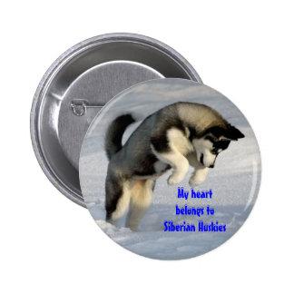 Perno del husky siberiano pin redondo 5 cm