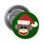 Perno del navidad del mono del calcetín pin redondo de 2 pulgadas